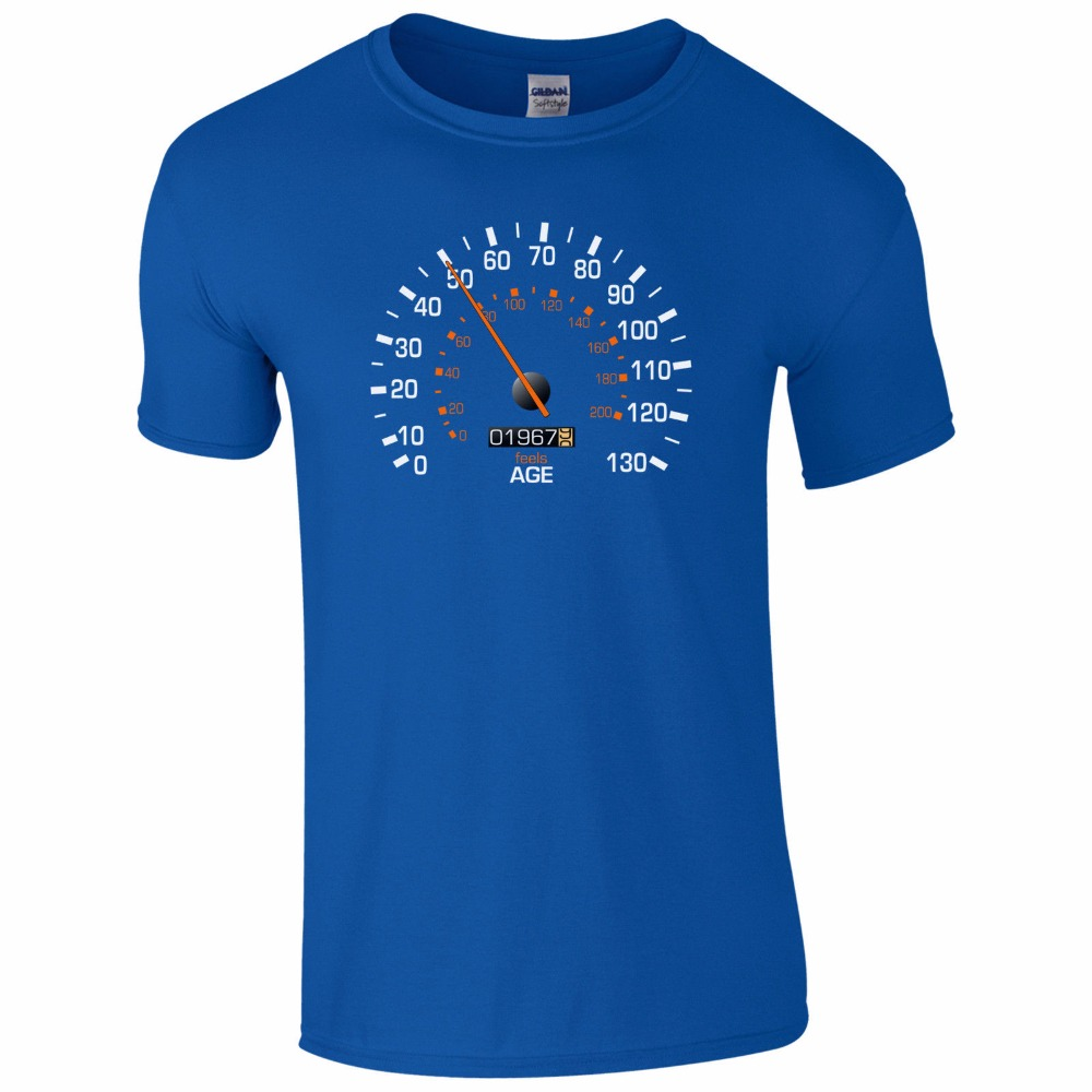 Mens Customized T Shirts Speedo Meter 1967 50Th Birthday Shirt Funny Feels Age Year Present Gift Tee In From Clothing
