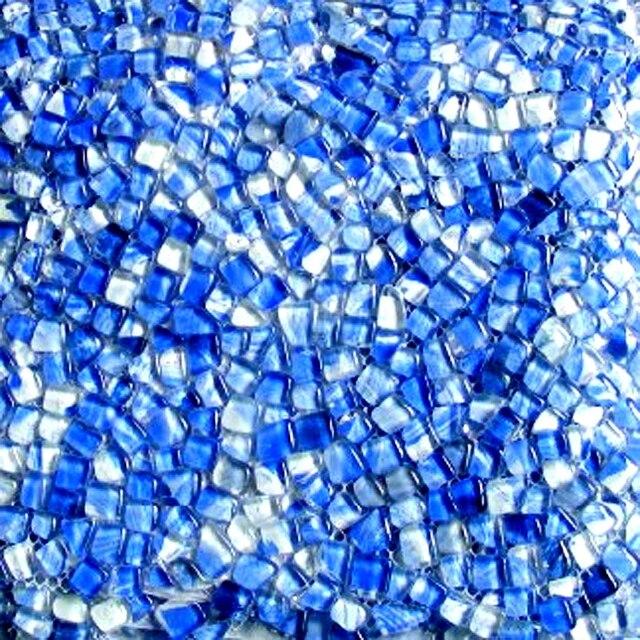 Unregelmäßige Form Grau Sky Blue Farbe Glasmosaik Fliesen EHGM1005K Küche  Backsplash Badezimmer Abdeckung Flur Grenze