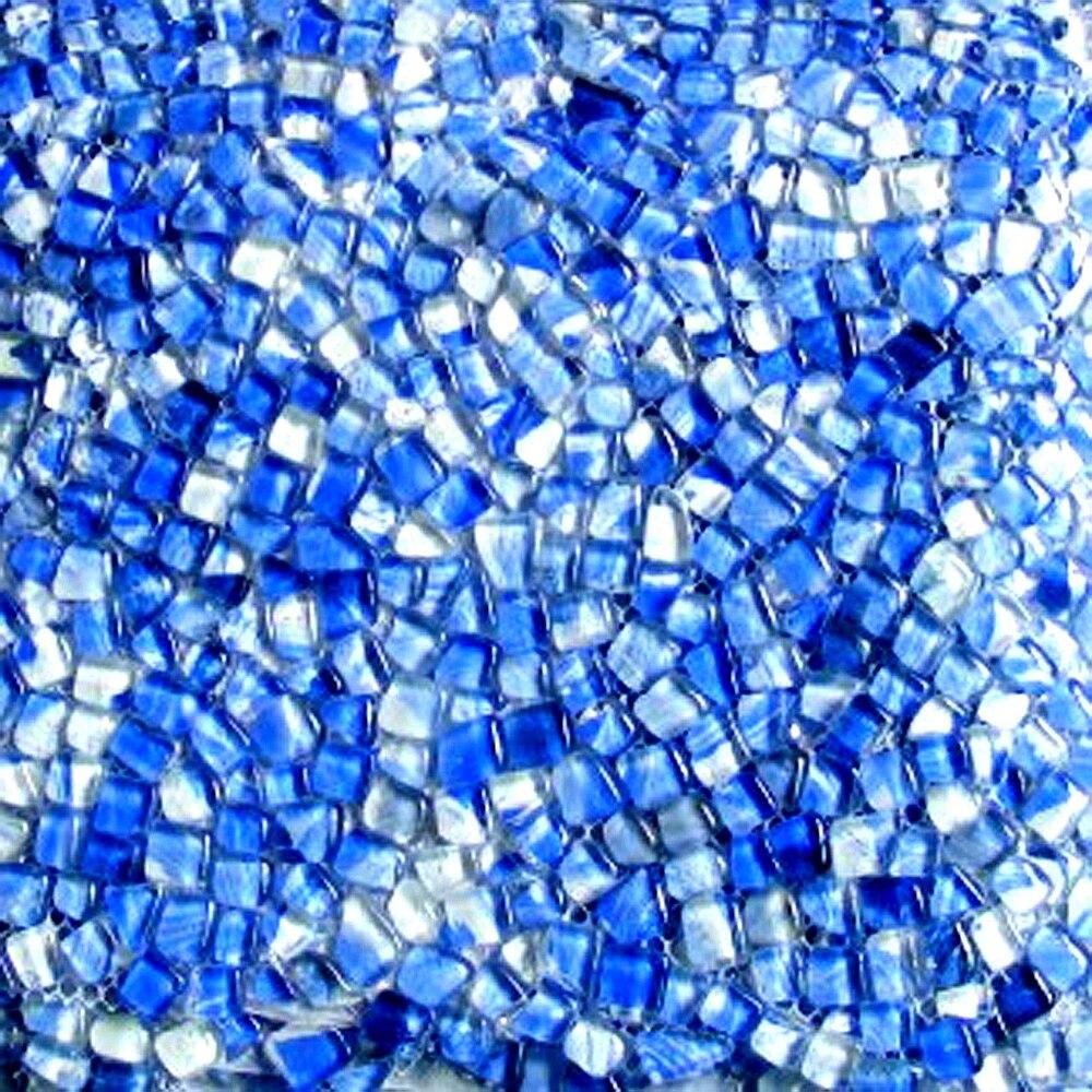 irregular shape gray sky blue color glass mosaic tiles EHGM1005K ...