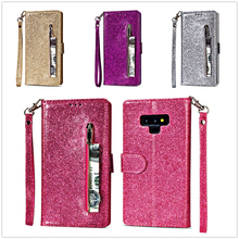 S7 Edge Zipper Handbag Wallet for Samsung Note 9 Case Note 8 Phone Bag Leather Cover for Samsung Galaxy S9 S8 Plus Bling PU Case ladies bowknot bag style protective pu leather case for samsung galaxy note 3 green white
