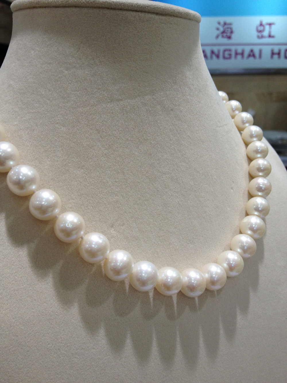 classic freshwater pearl necklace 11-12MM big pearl necklace perfectly round real pearl necklace a aa 17 12mm gray pink round freshwater pearl necklace