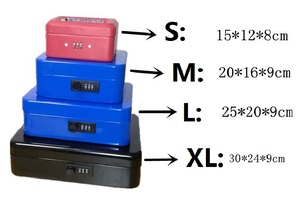 Image 2 - מפתח/סיסמא פלדה בטוח קופסות תוכן חנות תיבת נייר חזירון קטן שינוי בנק כרטיס מסמך קופסות עם מנעול