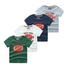 2019 New Boys Short Sleeve T Shirts Cartoon Baseball Tee Shirt Children Clothing Champion 5-12year