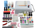 New Pro 36W UV GEL White and Pink Lamp & 12 Color UV Gel Nail Art Tools Sets Kits  t9