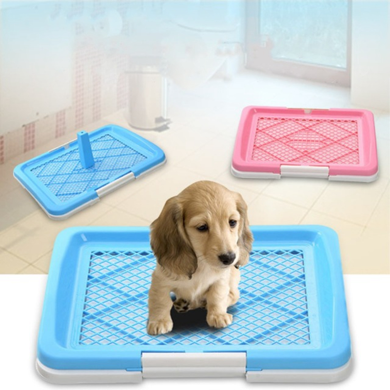 Plastic Portable Eco friendly Plasctic Indoor Dog Toilet Product Thickness Gridding Flat Board Lavatory For Large Pet Dog