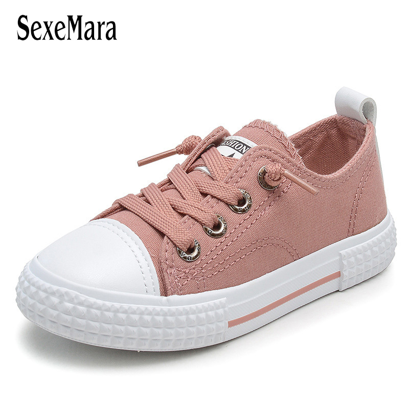 Knot Elastic Band Boy/Girl Sneaker New Arrival Kids Shoes 2018 Causal Sewing Student Sport Shoes Flat Children's Footwear A09011