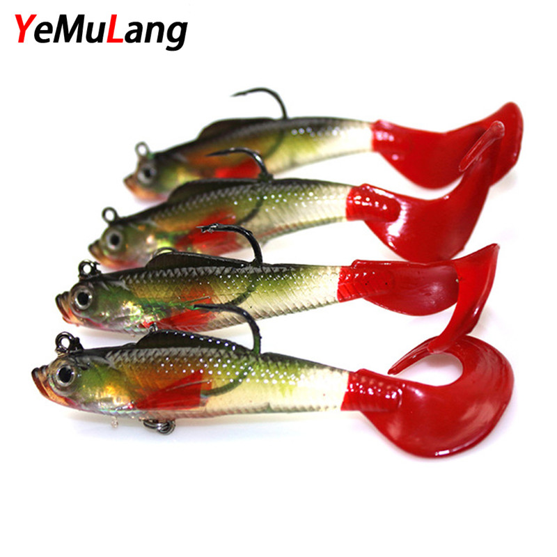 YeMuLang 1pcs 8cm 9g Swimbait Doux Appâts Artificiels Leurres de - Pêche - Photo 1