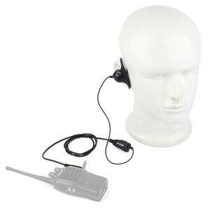 Image 5 - 10 stuks D Vorm 2Pin Zachte Oorhaak Headset PTT Microfoon Accessoires Voor Kenwood Retevis H777 RT5 RT21 Baofeng 888s UV 5R Walkie Talkie
