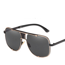 Men's Sunglasses Retro Big Frame Metallic Sunglasses Colorful Outdoor Driving Mirrors