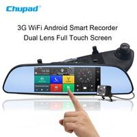 3G WiFi Android Car DVR Blackbox 1080P Bluetooth Dual Len Vehicle Camera 7 Inch GPS SIM