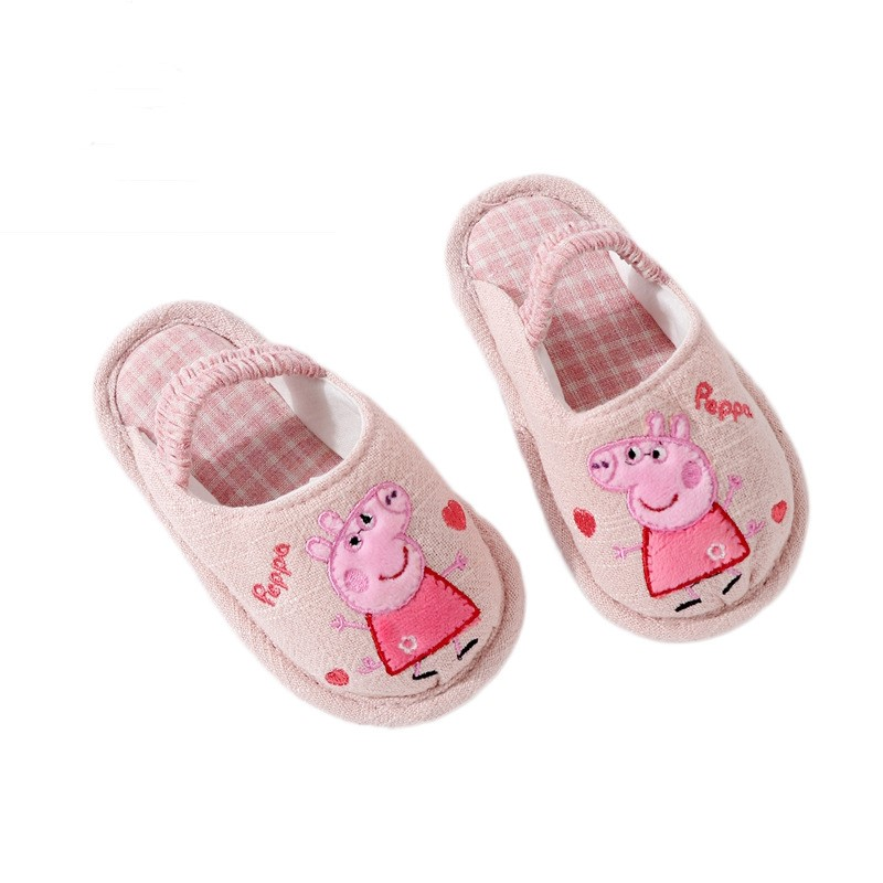 Spring And Summer New Indoor Soft Bottom Slippers Cute Pig Non-slip Baby Slippers Page Toddler Shoes WJH440
