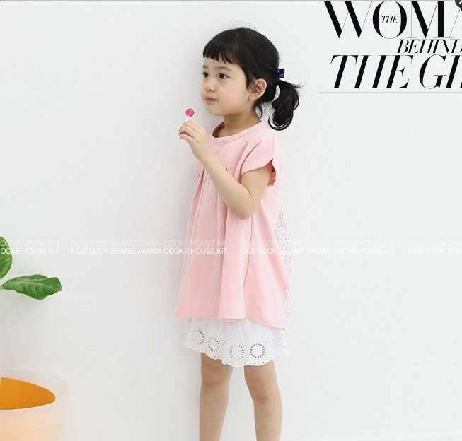 JMFFY/2019 г.; платья для маленьких девочек; летнее платье с короткими рукавами; Fille; Однотонный хлопковый От 3 до 8 лет с круглым вырезом; одежда для детей; вечерние подарки для детей