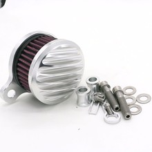 Motorcycle CNC parts Silver Air Cleaner Intake Filter System Air Filter For Harley Sportster XL883 XL1200 2004-2014 2015 2016