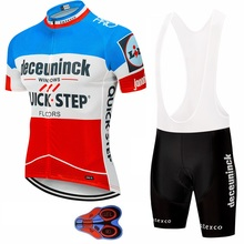 2019 deceuninck QUICK STEP Team cycling jersey gel pad bike shorts set MTB Ropa Ciclismo mens pro summer bicycling Maillot wear цена и фото