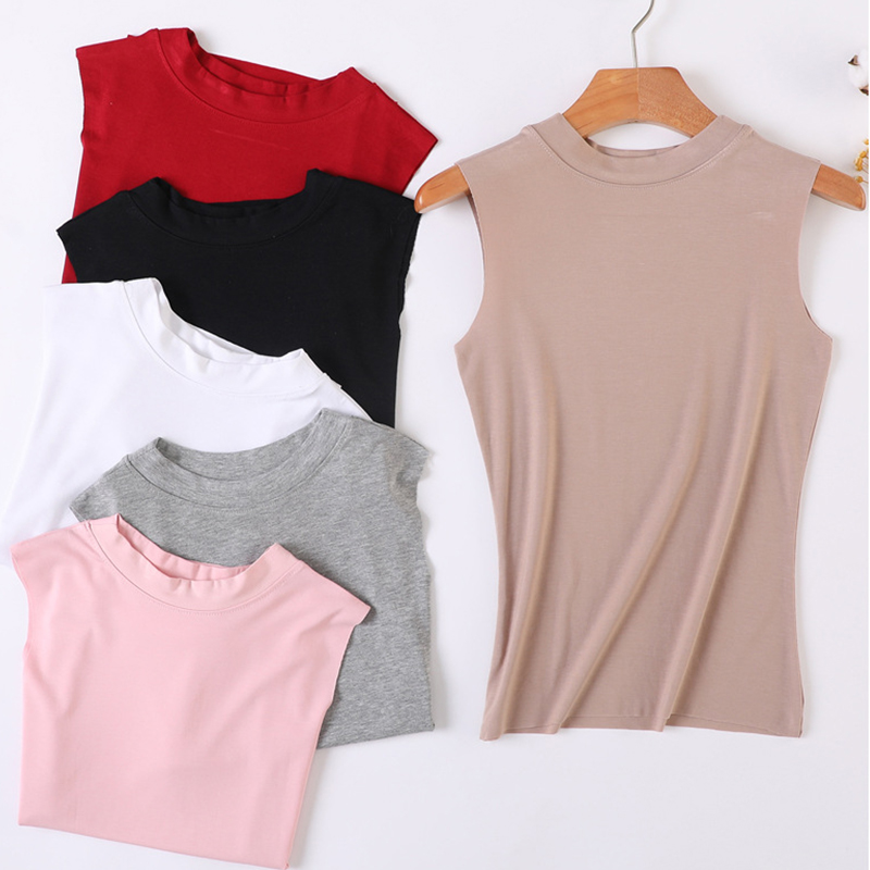 Solid Summer   Tank     Tops   For Women Fashion Vintage Simple Slim Modal Sexy   Top   Ladies Harajuku Breathable O-Neck Sleeveless Shirts