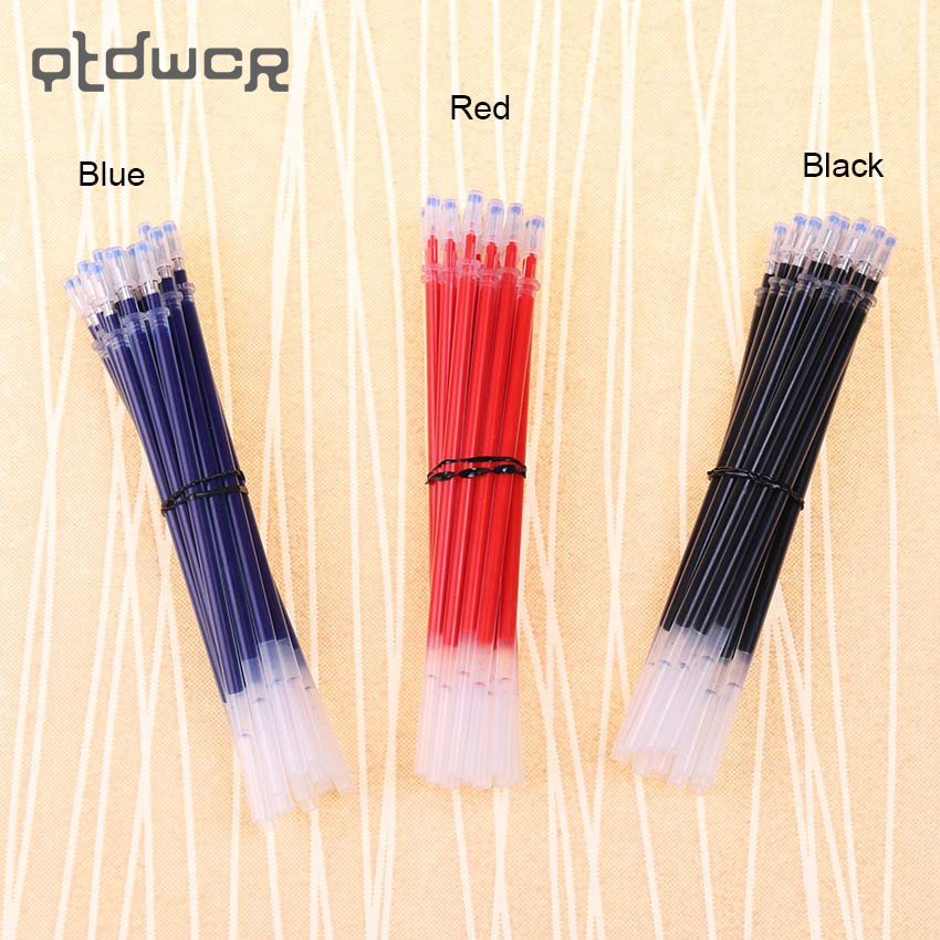 20PCS Tube A Pack Neutral Ink Gel Pen Refill Good Quality Refill Black Blue Red 0.5mm Bullet Refill Office Stationery Supplies