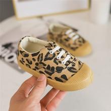 Autumn Kids Shoes Boys Girls Casual Fashion Leopard Print Comfortable Canvas Children Sneakers SlipOn Loafers unisex