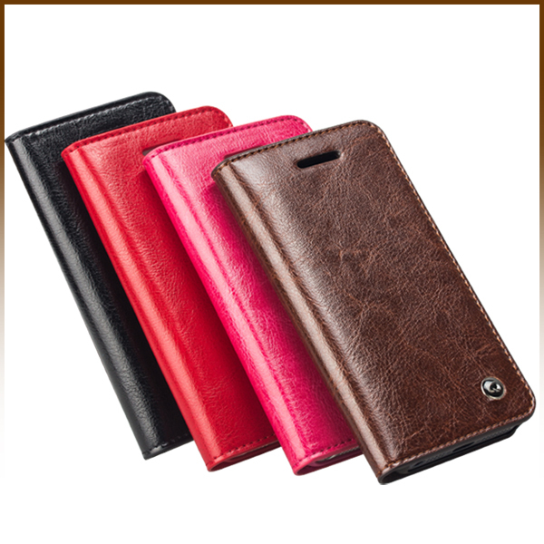 Qialino Card Holder Genuine Flip Wallet Leather Case For Apple Cover for iPhone 5S 5 Black