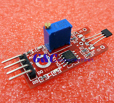 2PCS Hall Magnetic Standard Linear Module For AVR PIC Good New