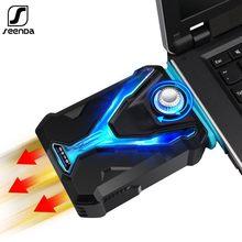 SeenDa taşınabilir USB hava sıkma dizüstü Notebook soğutucu soğutma sessiz vakum Fan radyatör hızlı soğutucu ayarlanabilir hız