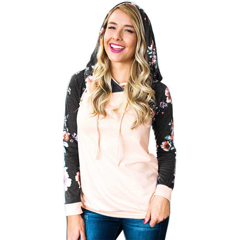 Hoodies vrouwen sweatshirt nieuwe 2019 herfst stiksels printing hooded slim hoed dropshipping Vestidos stranger dingen OYM0618