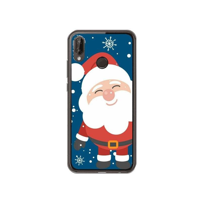 Adoravel Papai Noel Alces Hard Case Para Caso Dos Desenhos Animados De Natal Pintado Tampa Moda For Huawei P10/P20 Lite Plus