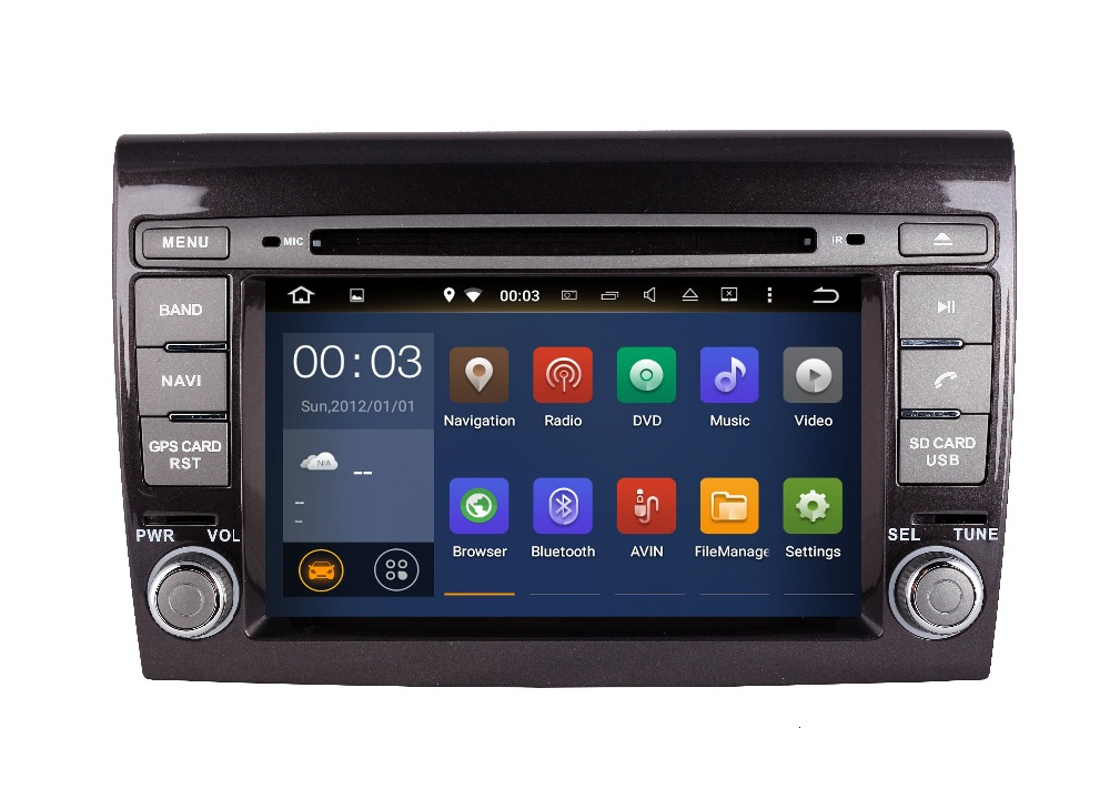 GIFTS Quad Core Android Fit FIAT BRAVO 2007 2015 2016 Car DVD Player Navigation multimedia GPS Radio DVD STEREO HEAD PAD