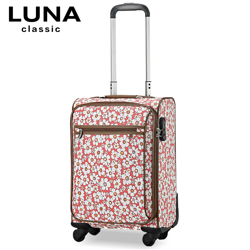 Print universal wheels trolley luggage travel bag female 18 luggage soft box luggage bags