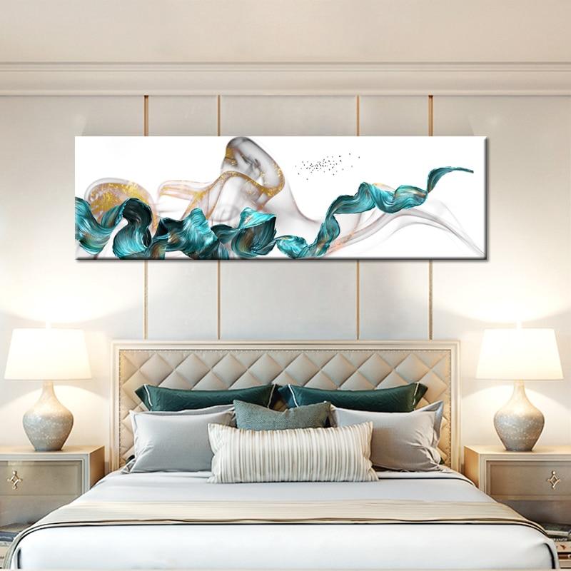 Affiches et impressions Art mural peinture sur toile, moderne abstrait or jaune affiches mur Art photos pour salon décor à la maison