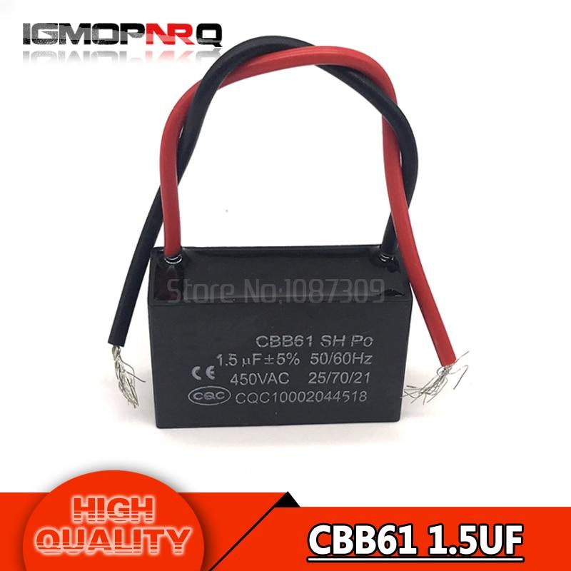 5pcs Cbb61 1 5uf Starting Capacitance Ac Fan Capacitor