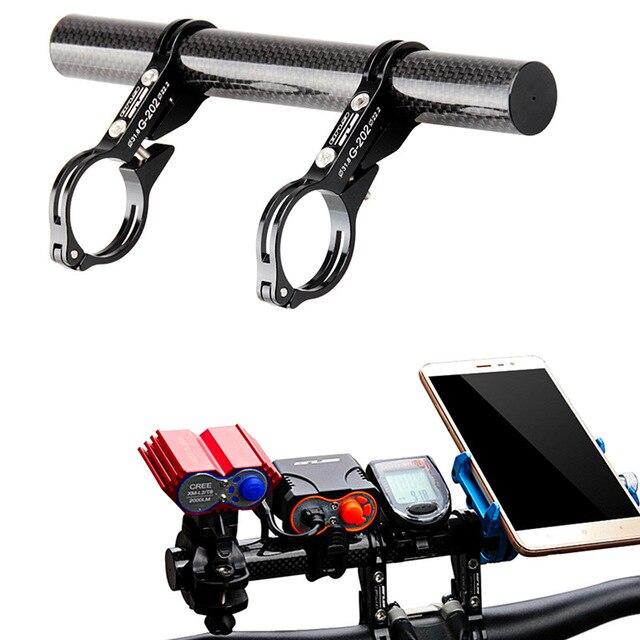 GUB szénszálas kerékpár kerékpár fogantyúhosszabbító meghosszabbítja a lámpatestet CNC könnyű MTB zseblámpa számítógép telefontartó