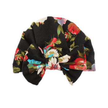 on sale 1pcs 2018 New Arrival Bebe knotted flower head hats kids bow India boys girls Beanies cotton children caps
