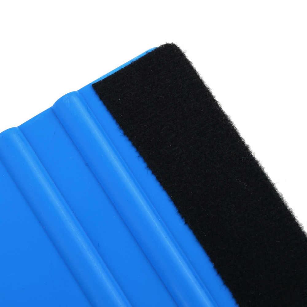 """מלבן עמיד כף יד כחול ויניל רכב מגב מדבקות לעטוף המוליך רך הרגיש קצה מגרד 99x72 מ""""מ יד כלי"""