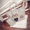 black friday Winter new fashion handbag cartoon robot pattern women's shopping bags quality pu Bag women