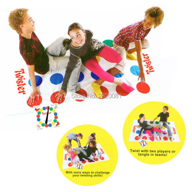 classic Fun Outdoor Sports Toys Twister Moves Game Play Mat,Creative interactive family party Twisting body toy gift for kid