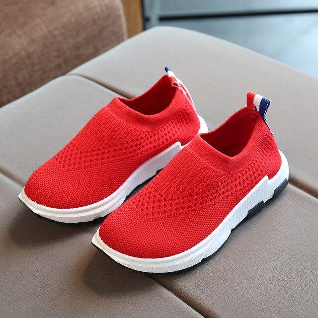 ULKNN детские кроссовки для бега детская обувь для мальчиков спортивные дышащая обувь для девочек вязаные носки кроссовки на открытом воздухе мягкая повседневная обувь 2018