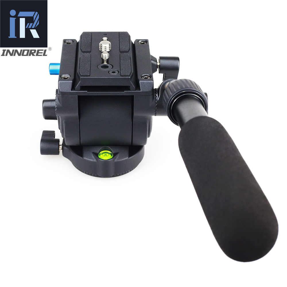 H60 Panorama Tripod Kepala Hidrolik Cairan Video Kepala untuk Monopod Slider Manfrotto 501PL Piring Kompatibel Lebih Baik dari JY0506H