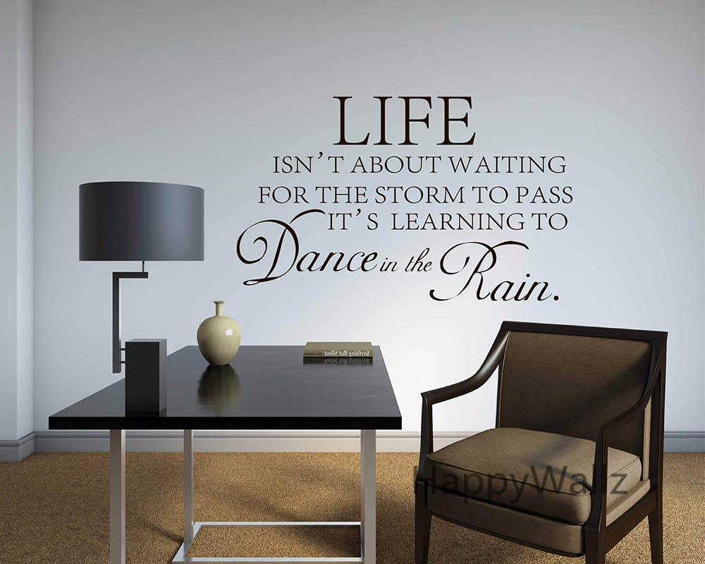 popular motivation quotes wall sticker buy cheap motivation quotes motivational quote wall sticker life is not about waiting for the storm to pass diy inspirational