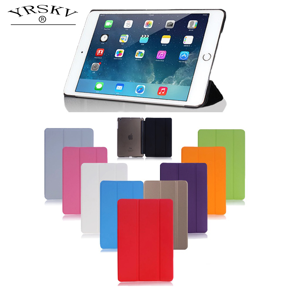 Case for iPad Air / for ipad 9.7 inch 2018 / 2017- YRSKV PC Hard+PU Leather Smart Auto Sleep Wake Case Ultra Slim Tablet Case