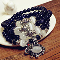 Free Shipping Austrian Crystal Bracelet  Fashion Jewelry Wholesale dark blue crystal opal bracelet Girls women Gift
