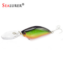 SEALURER Boxed 1Pcs Fishing Lures Float Crankbait  Minnow High Quality Tackle  110mm  17.9g  Topwater  Wobblers  with 6#  Hooks