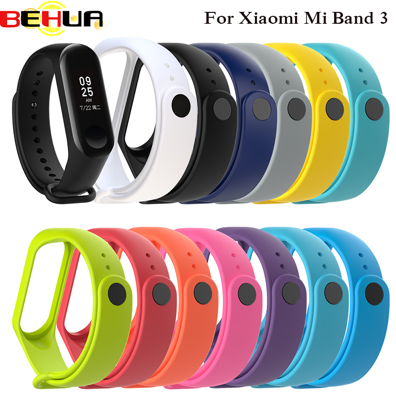 Strap For Xiaomi Mi Band 4 Wristband Strap Silicone Wrist Strap For Xiaomi Mi Band 4 3 Replacement Strap Bands Watch Accessories