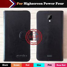 Hot!! Highscreen Power Four Case Factory Price 6 Colors Leather Exclusive For Highscreen Power Four Cover Phone Bag +Tracking цена и фото