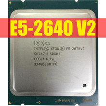 Intel Xeon E5-2640 V2 CPU E5-2640V2 Otto Core CPU LGA2011 CPU del Server E5 2640V2 E5 2640 V2 CPU 100% normale lavoro(China)
