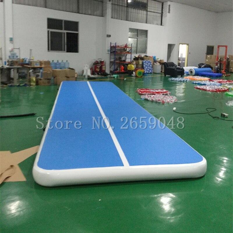 Livraison gratuite 6 m longueur 20 cm épaisseur tapis de gymnastique gonflable culbutant gonflable Airtrack plancher culbutant Air piste pompe gratuite