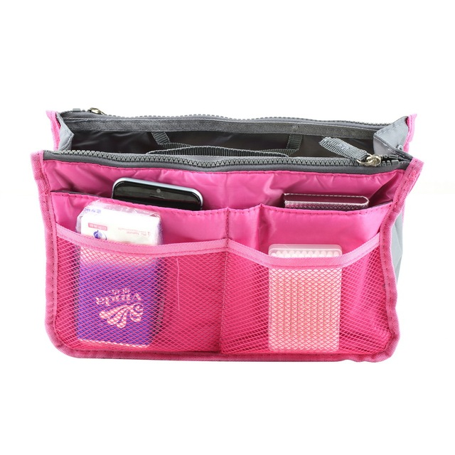 High Quality Waterproof Nylon Storage Bags Multifunctional Tools Cosmetic Makeup Travel Organizers Insert Handbags