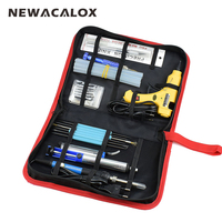 NEWACALOX 12 In 1 Set EU 220V 60W DIY Adjustable Electric Soldering Iron Welding Kit Screwdriver