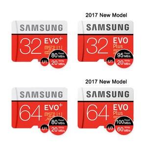Image 2 - Tarjeta de memoria Micro SD SAMSUNG, 32G, 64G, 128G, 256G, 512GB, SDHC, grado EVO + Clase 10, tarjetas TF UHS, Trans Micro hasta 95 mb/s, nuevo