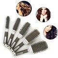 5 unids Iónica de Cerámica Radial Ronda Hair Dressing Salon Styling Brush Barril Anti-estática Peine Detangling escova de cabelo cepillo para el cabello