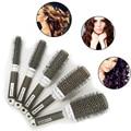 5pcs Ceramic Ionic Radial Round Comb Hair Dressing Brush Salon Styling Barrel Anti-static escova de cabelo Detangling Hairbrush